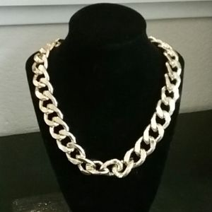Gold Tone Chunky Chain Choker/Necklace